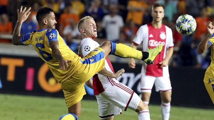 Ajax Amsterdam diimbangi APOEL Nicosia 0-0 di leg pertama Playoff Liga Champions (AP Photo/Philippos Christou)