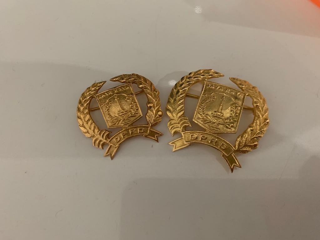 Penampakan Pin Emas Anggota DPRD DKI yang Jadi Kontroversi