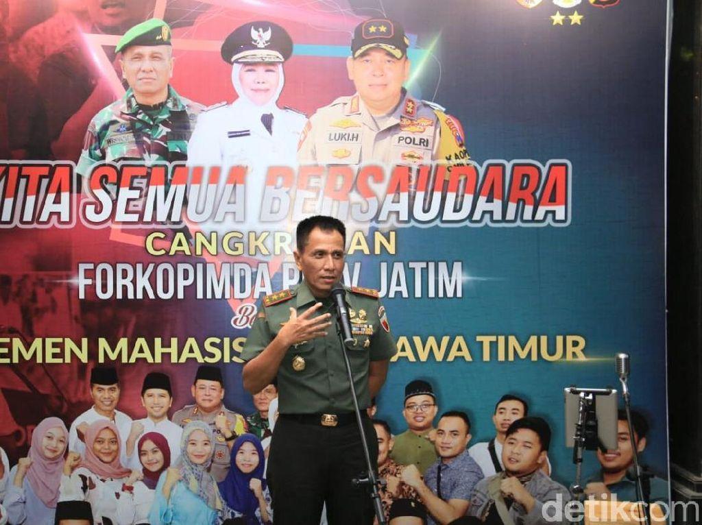 Kodam Brawijaya Dalami Oknum TNI Datangi Asrama Mahasiswa Papua