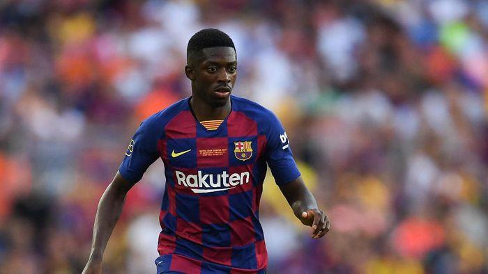 Winger belia Barcelona Ousmane Dembele. (Foto: David Ramos/Getty Images)