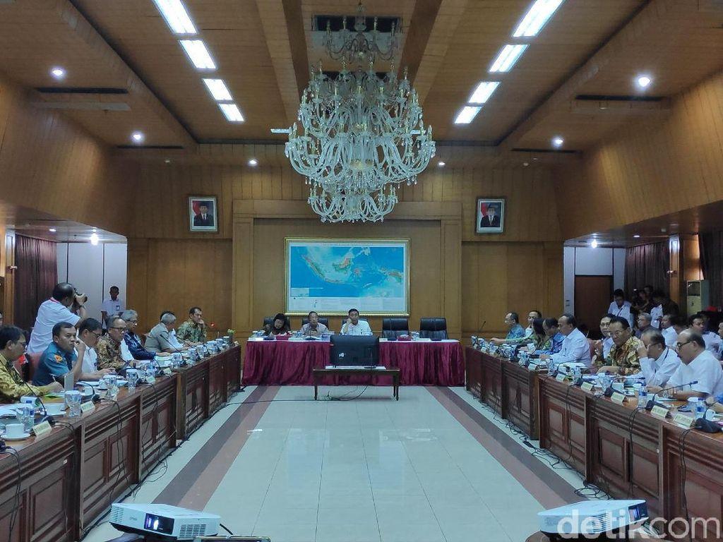 Wiranto, Darmin, dan Siti Nurbaya Rapat Bahas Pengendalian Karhutla