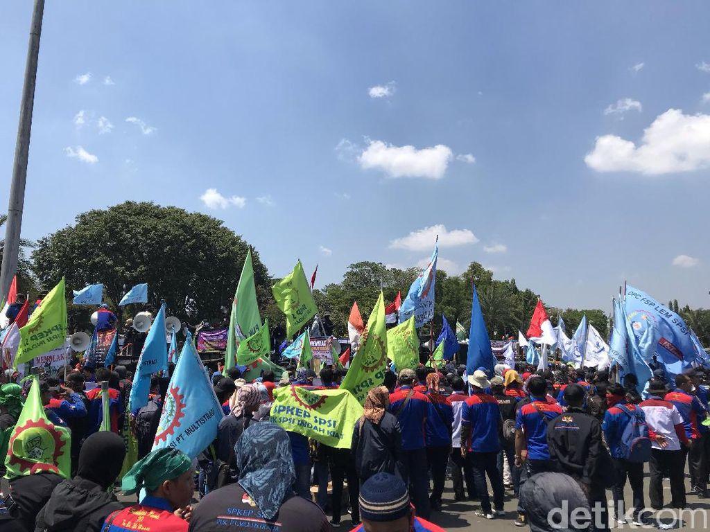 Aspirasi Diterima Istana, Massa Buruh Apresiasi Hasil Pertemuan