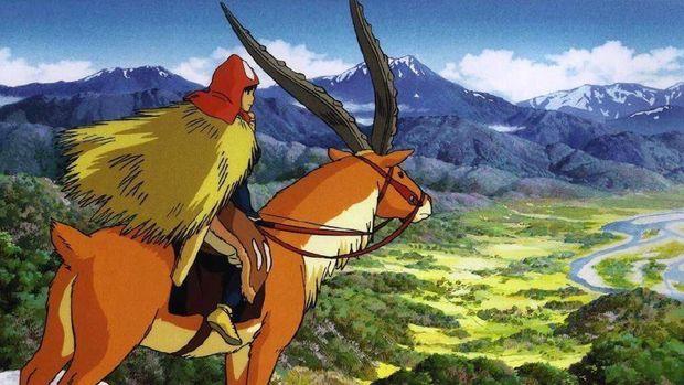 Salah satu adegan dalam film 'Princess Mononoke'. (Dok. Studio Ghibli)