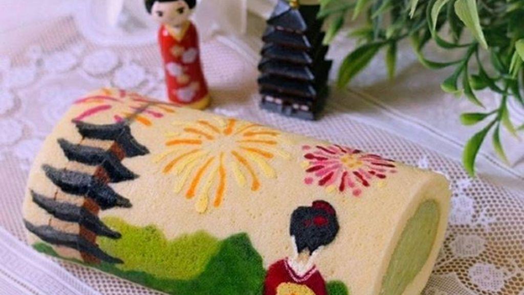 Cantik Banget! Roll Cake dan Roti Ini Bergambar Sushi hingga Buah