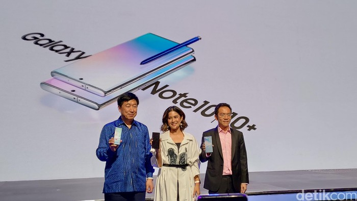 Peluncuran Galaxy Note dan Galaxy Note+. Foto: Adi Fida Rahman/detikinet