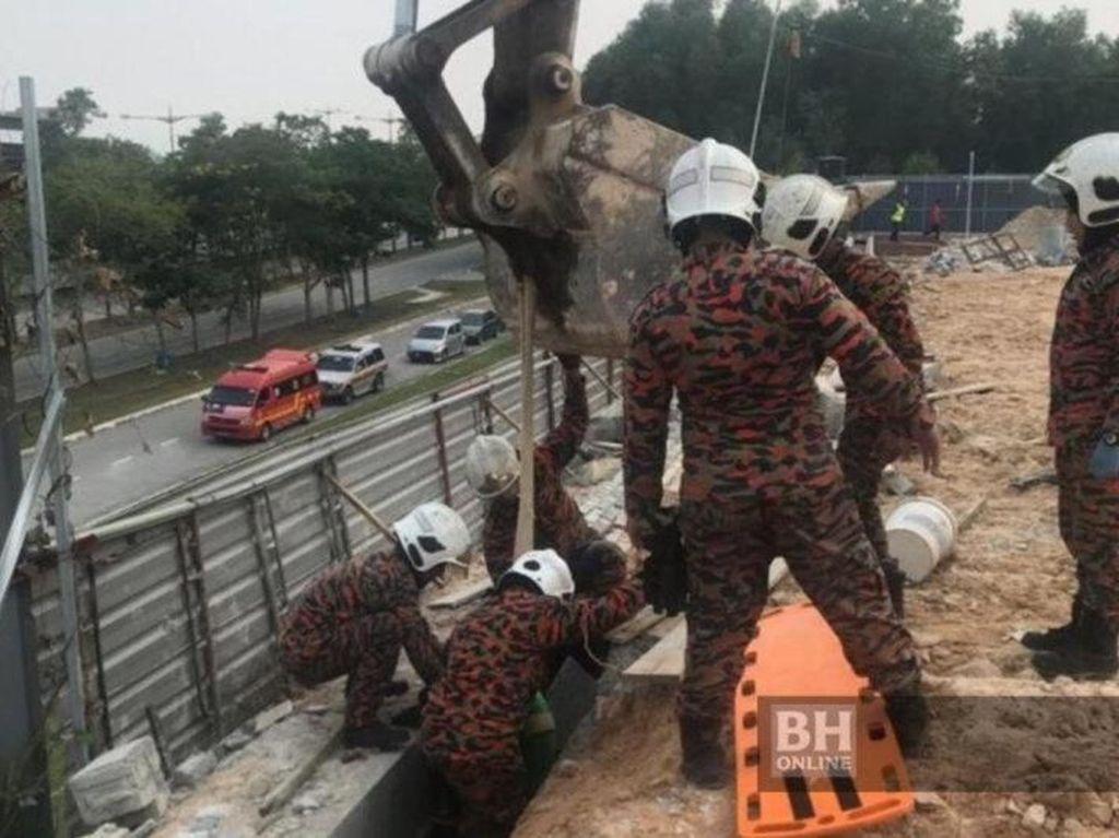 2 Pekerja WNI Tewas Tertimpa Dinding Beton di Malaysia