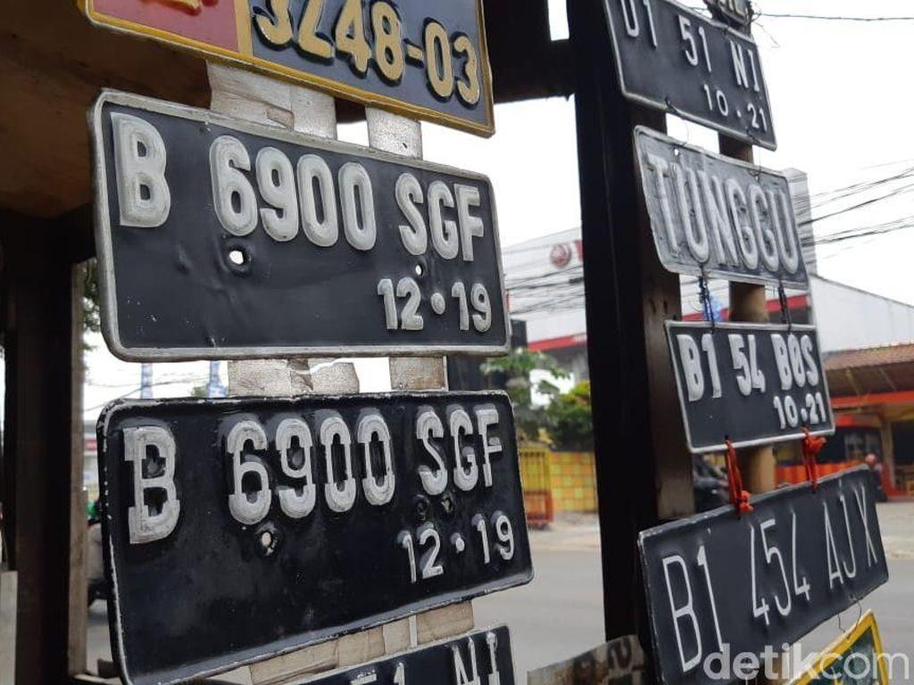 Nopol Rahasia RFP Palsu Terbitan Pinggir Jalan, Tak Sesuai Spek Polri
