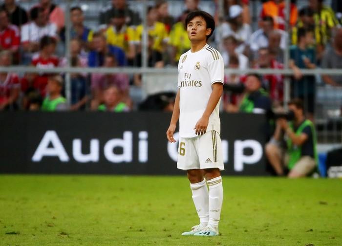 Soccer Football - Audi Cup - Real Madrid v Tottenham Hotspur - Allianz Arena, Munich, Germany - July 30, 2019  Real Madrids Takefusa Kubo  REUTERS/Michael Dalder