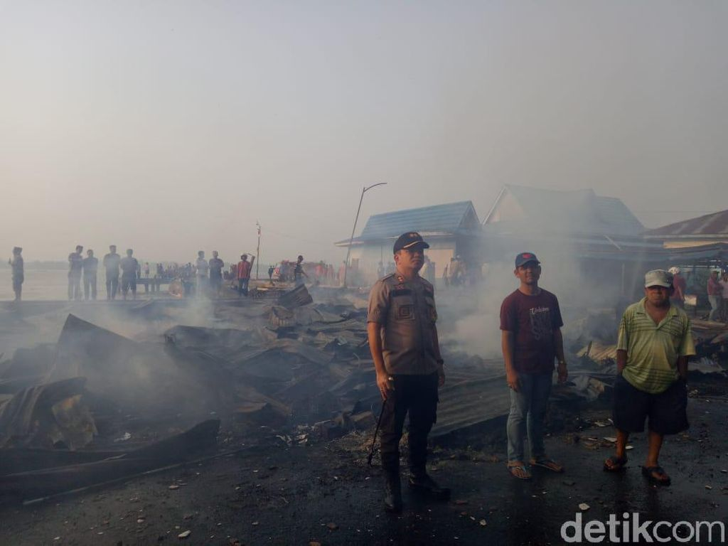 Puluhan Ruko dan Ratusan Kios di Tembilahan Riau Ludes Terbakar