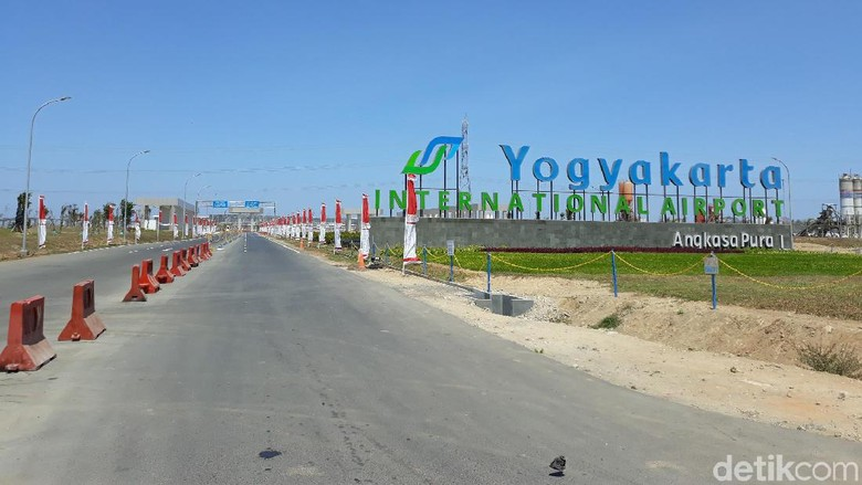 Suasana Yogyakarta International Airport di Kecamatan Temon, Kabupaten Kulon Progo (Pradito/detikcom)