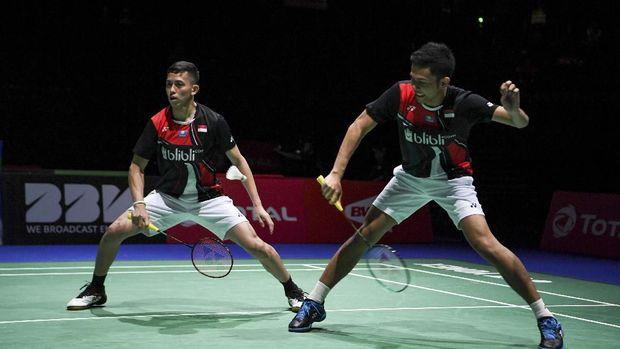 Fajar/Rian akan jadi lawan Kevin/Marcus di babak semifinal China Open.