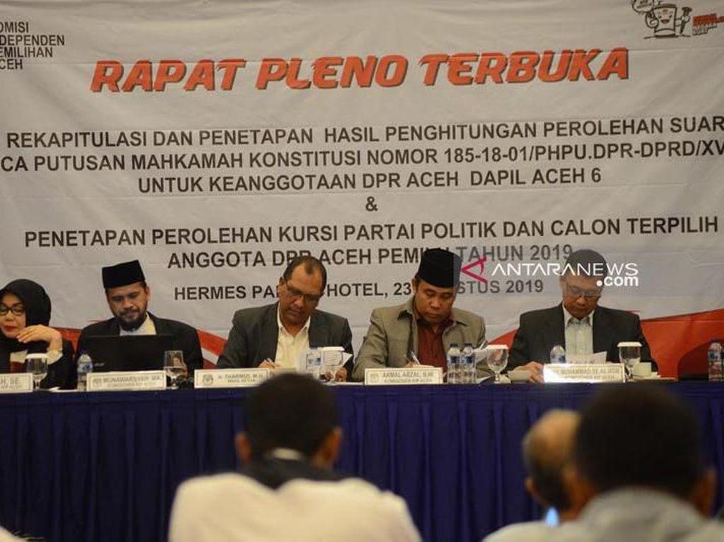 KIP Tetapkan 81 Anggota DPR Aceh Terpilih