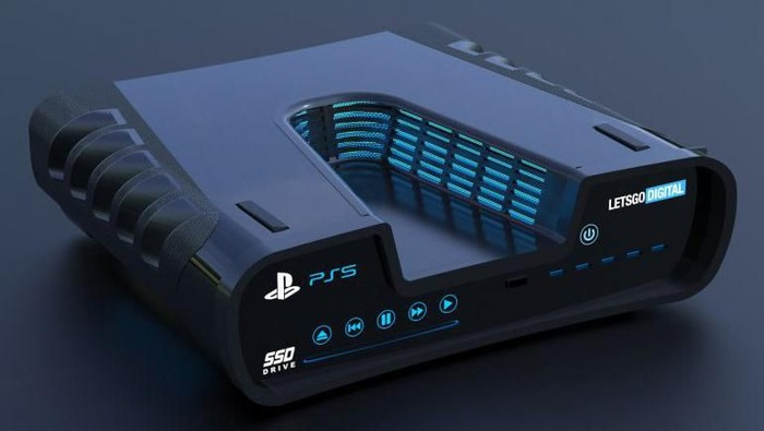 Render reka wujud PS5. (Foto: Dok. LetsGoDigital)