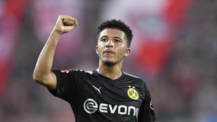 Jadon Sancho diminta bertahan di Borussia Dortmund setidaknya 1-2 musim lagi. Foto: AP Photo/Martin Meissner