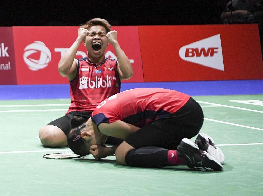 Senangnya! Greysia/Apriyani Lolos ke Semifinal Kejuaraan Dunia Bulutangkis