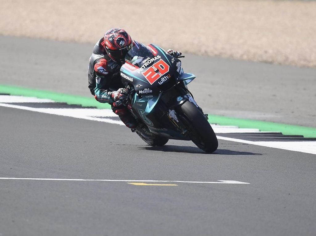 Quartararo Kuasai FP3 MotoGP Inggris, Rossi Kedua, Marquez Ketiga