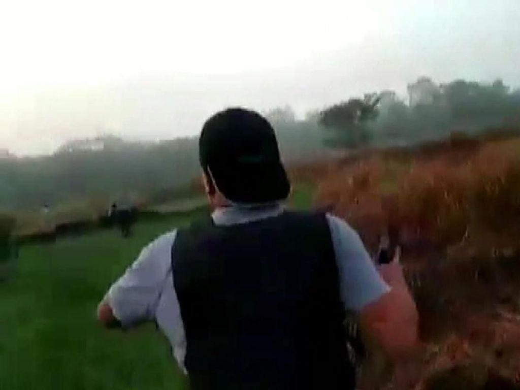 Tegang! Baku Tembak Polisi dengan Pencuri Senpi di Jambi