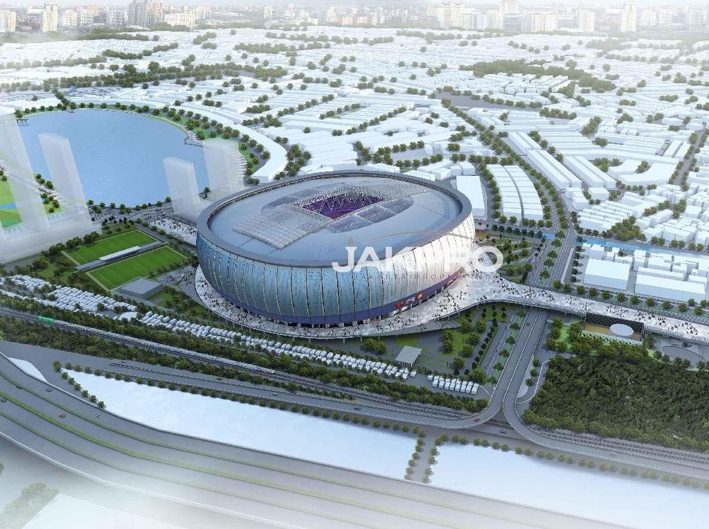Canggih, Nantinya Atap Stadion Baru Jakarta Bisa Buka Tutup