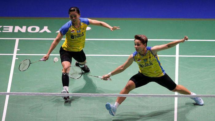 Greysia Polii/Apriyani Rahayu lolos ke babak kedua China Open 2019 (Foto: Vincent Kessler/Reuters)