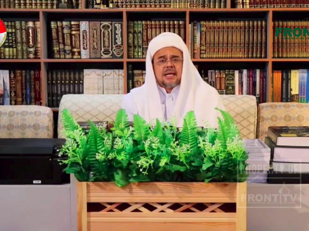Habib Rizieq Bicara NKRI Bersyariah di Milad FPI: Pancasila Bukan Pilar Negara