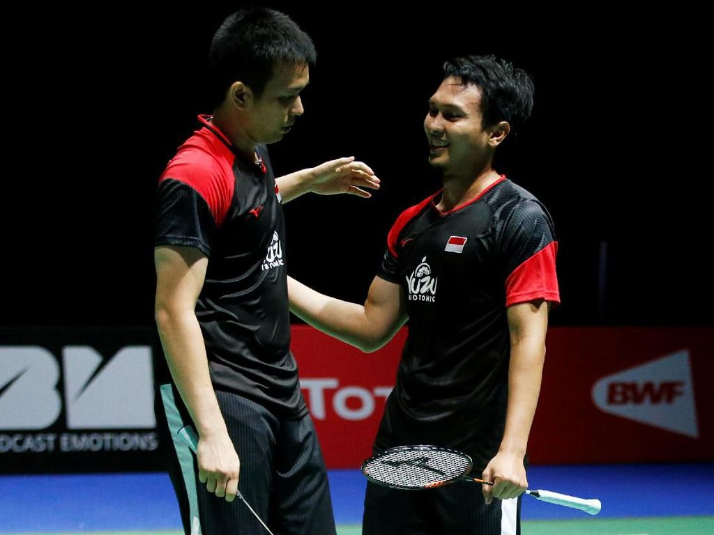 Kalahkan Duo Menara, Hendra/Ahsan Kunci All Indonesian Final China Open
