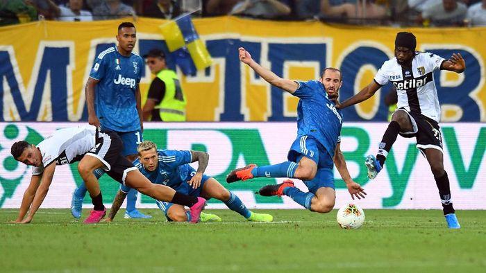 Juventus menang 1-0 atas Parma di laga pembuka Liga Italia 2019/2020. (Foto: Alessandro Sabattini/Getty Images)