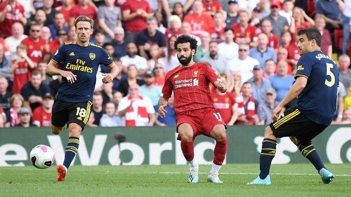 Liverpool menang 3-1 atas Arsenal berkat dua gol Mohamed Salah (Foto: Laurence Griffiths/Getty Images)
