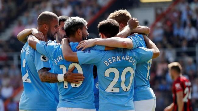 Di antara klub Inggris, Manchester City akan menempuh perjalanan paling jauh di fase grup Liga Champions (Russell Cheyne/REUTERS)
