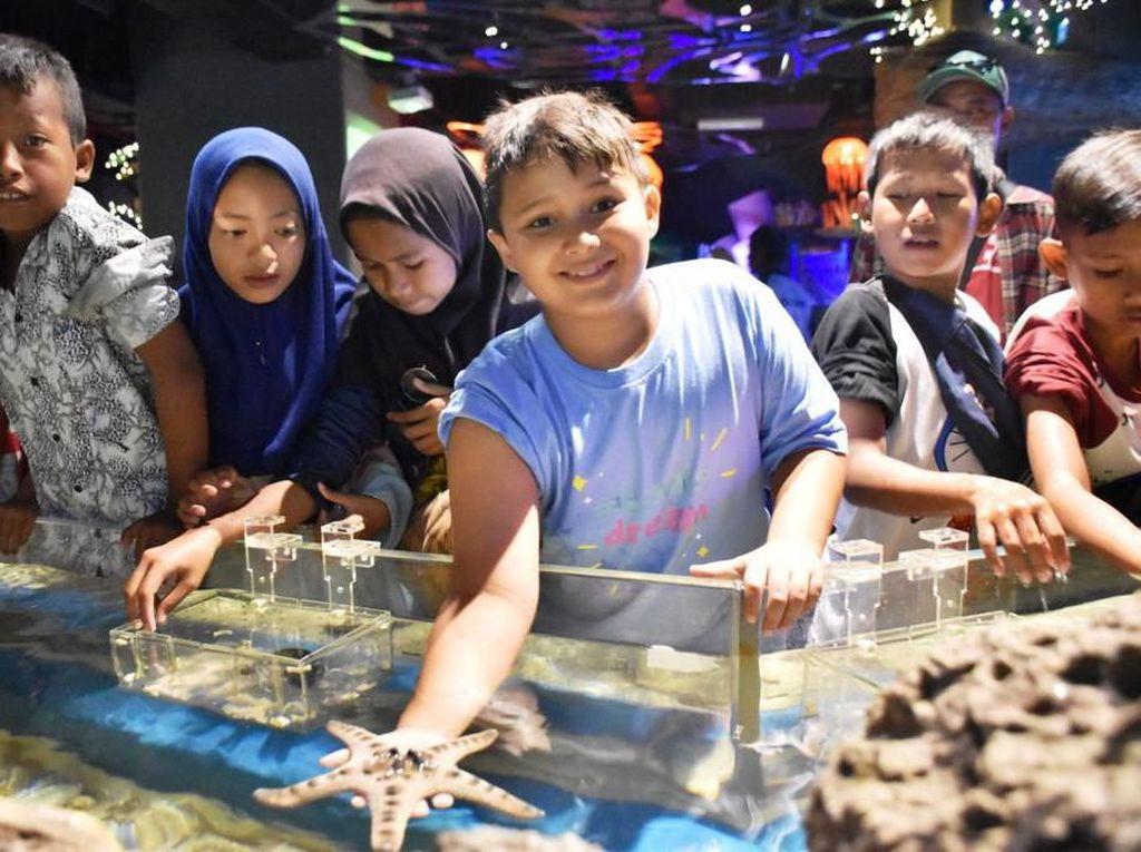 Bahagianya Louis & AnakBantargebang Berkunjung ke Jakarta Aquarium