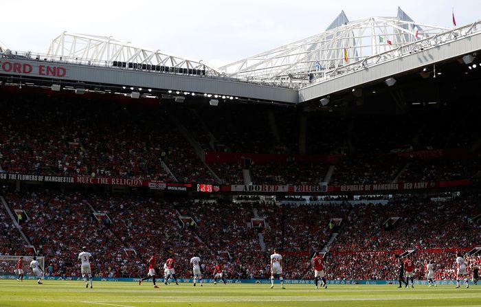 Manchester United dan Crystal Palace bertanding pada lanjutan Liga Inggris di Old Trafford, Sabtu (24/8/2019). Reuters/Paul Childs.