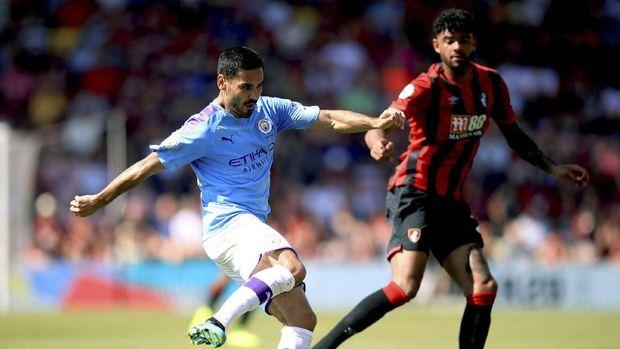 Hasil Liga Inggris: Man City Menang atas Bournemouth 3-1