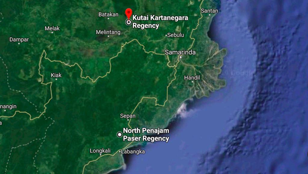 Penampakan Ibu Kota Baru Dilihat dari Google Maps