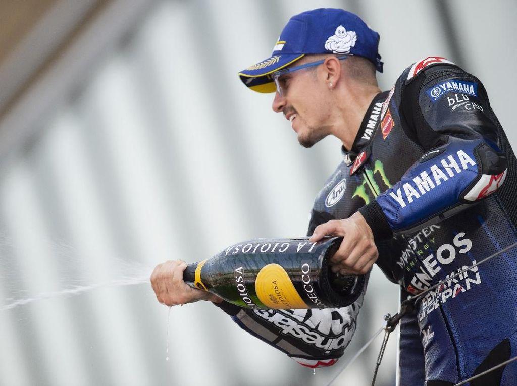 Heran Juga Vinales Bisa Finis Ketiga di MotoGP Inggris