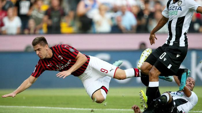 AC Milan takluk 0-1 dari Udinese di pekan perdana Liga Italia 2019/2020 (Gabriele Menis/ANSA via AP)