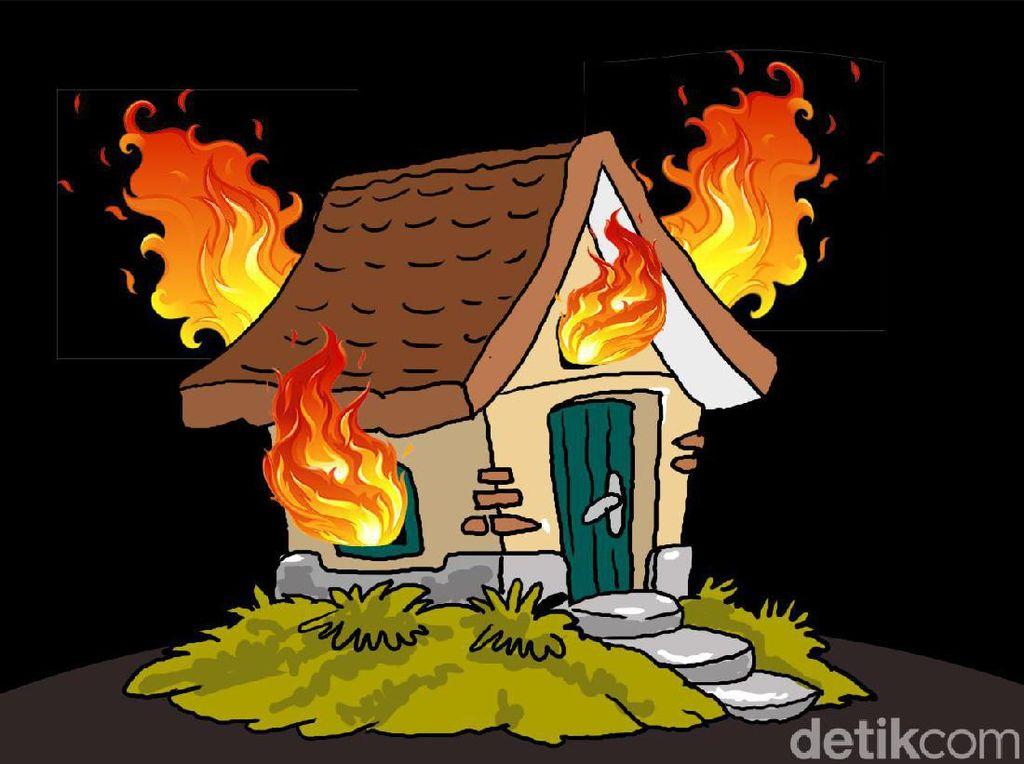 Wanita Lansia di Bandung Tewas Terjebak Rumah Panggung yang Terbakar