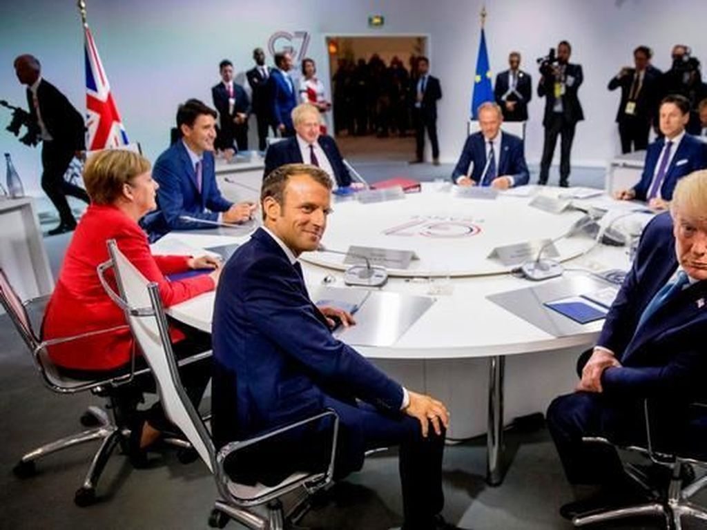 KTT G7 di Prancis Berakhir, Hanya Sepakat Soal Kebakaran Hutan Amazon