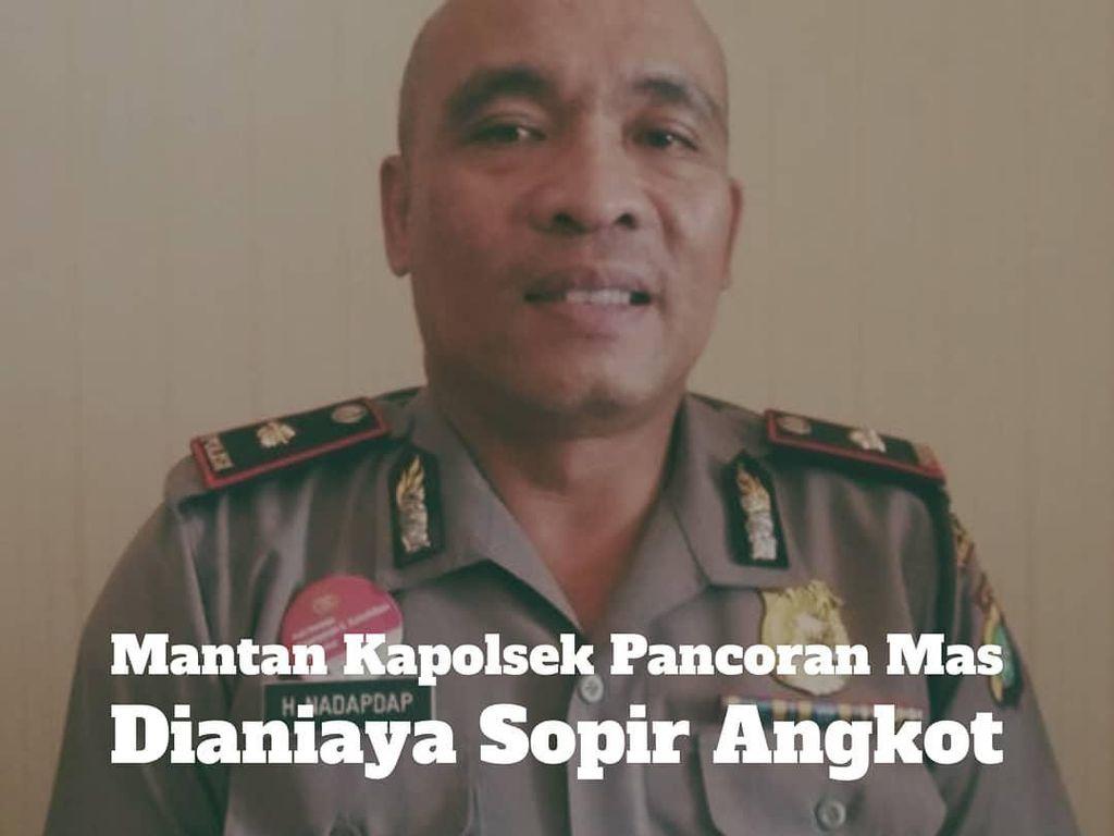 Kompol Nadapdap Dianiaya Sopir Angkot, Polisi: Wajahnya Ditanduk