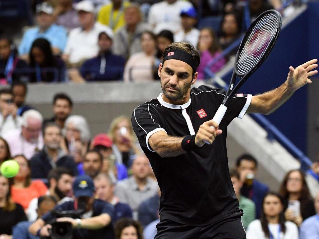 Tanding 4 Set, Federer Maju ke Babak Kedua AS Terbuka