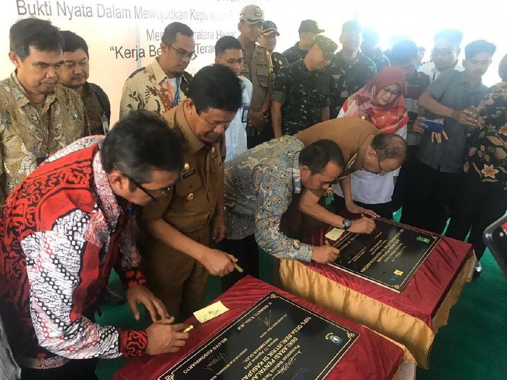 Desa di Pulau Terdepan Indonesia Barat Teraliri Listrik 100%