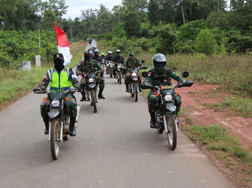 Prajurit TNI Gelar Touring Kemerdekaan di Merauke