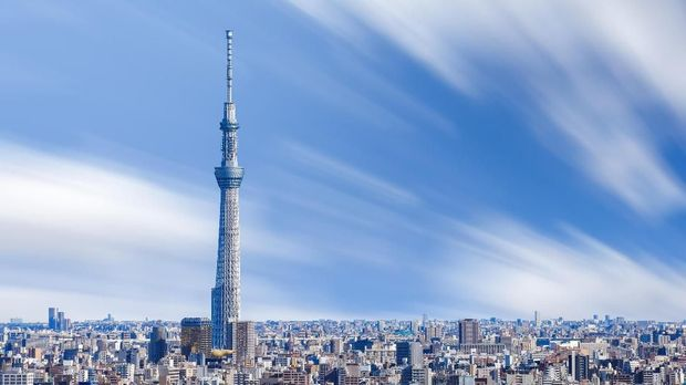 Beautiful view of tokyo city with Tokyo sky tree