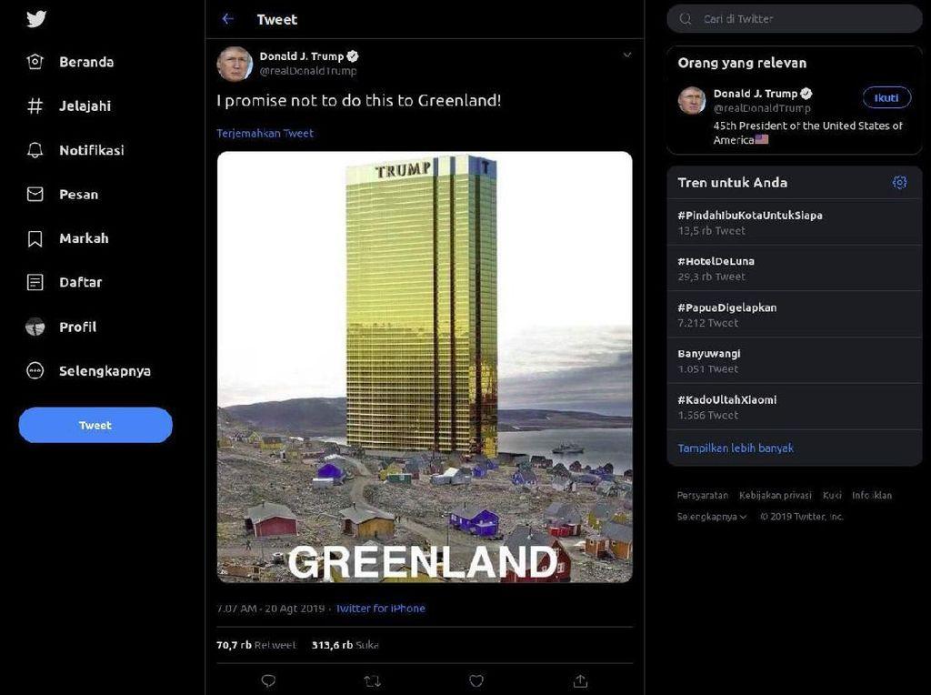 Kalau Trump Beli Greenland, Orang Amerika Punya Tempat Liburan Baru