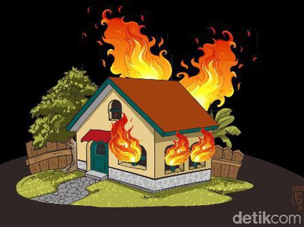 Rumah di Johar Baru Jakarta Pusat Terbakar