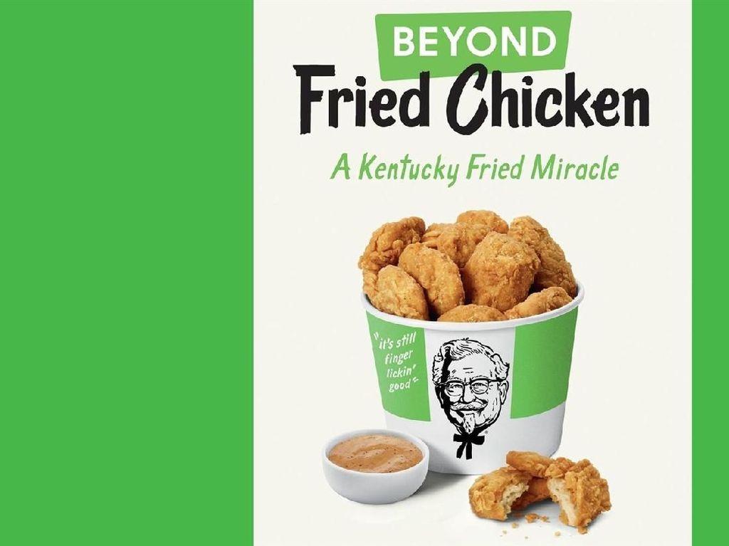 KFC Uji Coba Peluncuran Fried Chicken Nabati Berbahan Kedelai