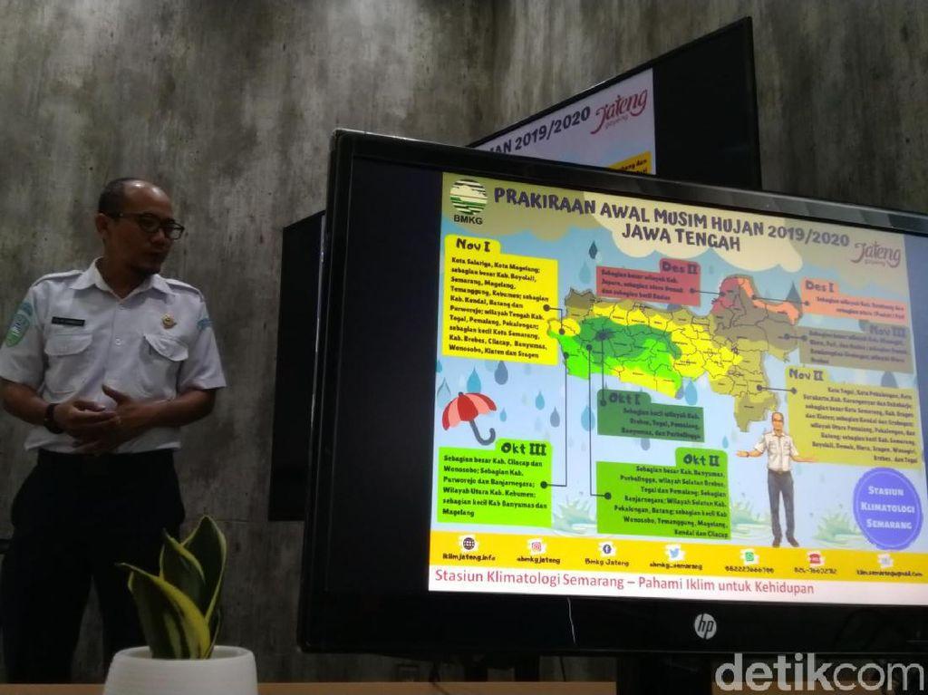 BMKG Imbau Warga Jateng Waspada Cuaca Ekstrem Jelang Musim Hujan