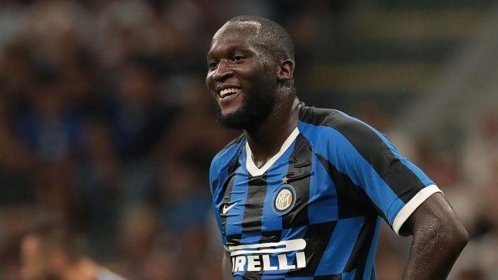 Pemain Inter Milan, Romelu Lukaku, mendapatkan pelecehan rasial. (Foto: Emilio Andreoli/Getty Images)