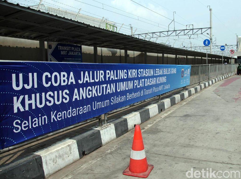Uji Coba Jalur Angkutan Umum di Stasiun MRT Lebak Bulus