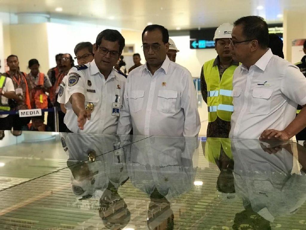 Sambut Kedatangan Presiden, Menhub Cek Kondisi Bandara Kulonprogo