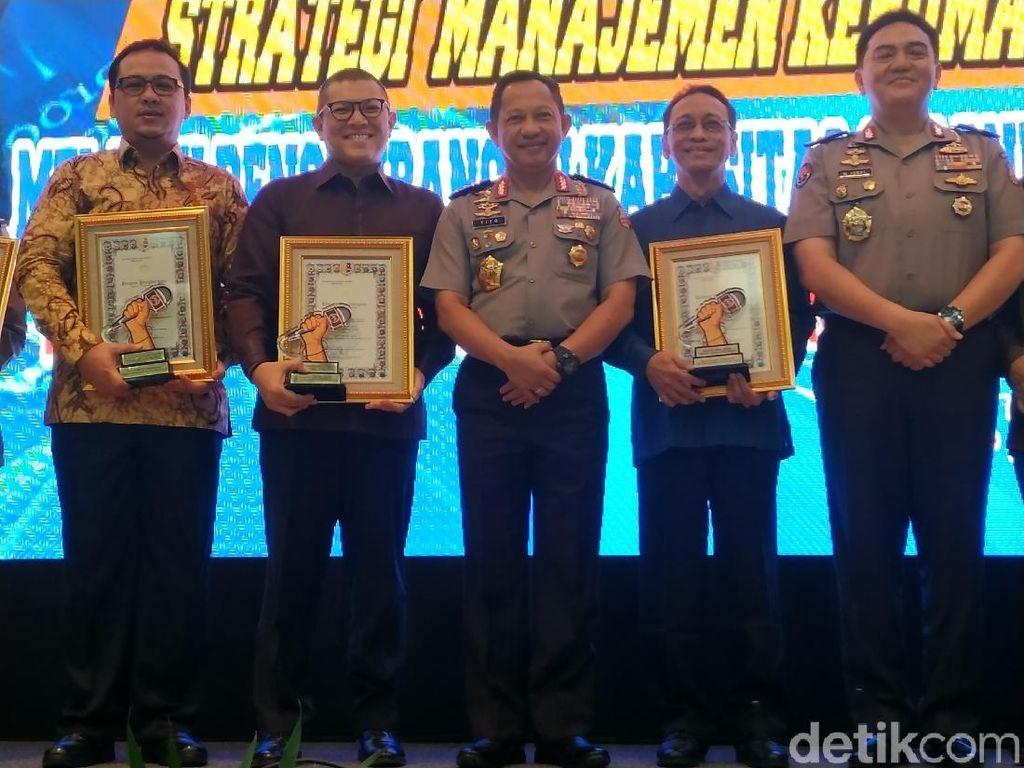 detikcom Raih Penghargaan Media Online Mitra Terbaik Polri