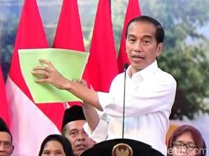 Jokowi Wanti-wanti Masyarakat yang Dapat Sertifikat Tanah: Bisa Hilang